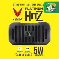 VYATTA Platinum Hitz TWS Speaker - Stereo, Bluetooth, USB/TF-MEGA BASS - Briliant Black