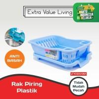 YOSHIKAWA Rak Piring Plastik EVL-RP-08-BIRU