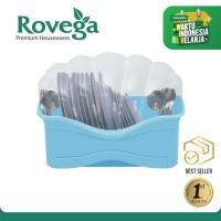 Rovega Rak Piring Plastik Premium Dish Rack Shella BIRU (Food Grade)