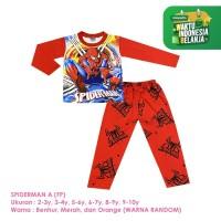 Baju Setelan Anak Laki-Laki Panjang Full Print Spiderman Shirton