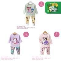 Setelan Baju Tidur Anak Perempuan Import Panjang 1-10 Tahun (3A)