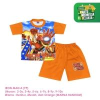 Baju Setelan Anak Laki-Laki Pendek Full Print Iron Man A Shirton