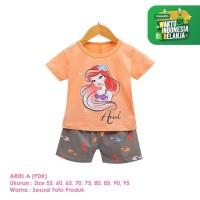 Setelan Baju Tidur Anak Perempuan Import Pendek Ariel A Shirton