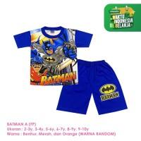 Baju Setelan Anak Laki-Laki Pendek Full Print Batman Shirton