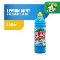 Supersol Karbol Lemon Mint Botol 450 ml