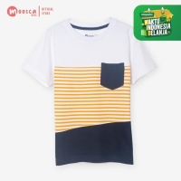 Moosca Kidswear Evan Tee Kaos Anak - Stripe Yellow