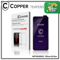 Iphone XS Max - COPPER Tempered Glass ANTI-BLUERAY (Full Glue)