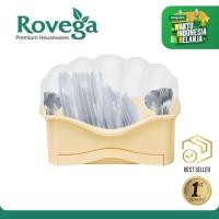 Rovega Rak Piring Plastik Premium Dish Rack Shella KREM (Food Grade)