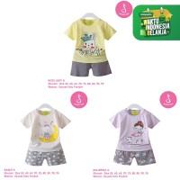 Baju Setelan Anak Perempuan Import Lengan Pendek 1-10 Tahun (1)