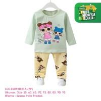 Setelan Baju Tidur Anak Perempuan Import Panjang LOL A Shirton