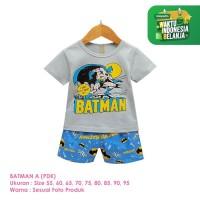 Setelan Baju Tidur Anak Laki-Laki Import Pendek Batman A Shirton