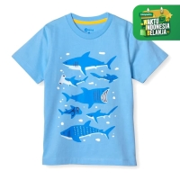 MOOSCA KIDS Shark Family T-shirt Kaos Anak