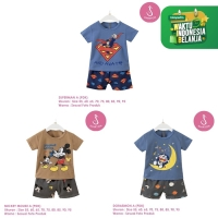 Setelan Baju Tidur Anak Laki-Laki Import Pendek 1-10 Tahun Shirton (2)
