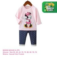 Baju Setelan Anak Perempuan Import Lengan Panjang Minnie A Shirton