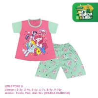 Baju Setelan Anak Perempuan Pendek 2-10 Tahun My Little Pony B Shirton