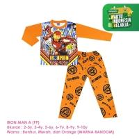 Baju Setelan Anak Laki-Laki Panjang Full Print Iron Man A Shirton