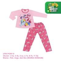Baju Setelan Anak Perempuan Panjang 2-10 Tahun Little Pony B Shirton