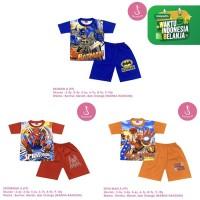 Baju Setelan Anak Laki-Laki Pendek Full Print 2-10 Tahun Shirton (1)
