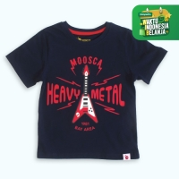 Moosca Kidswear Kaos Anak Heavy Metal Kid - Navy Size 6