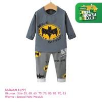Setelan Baju Tidur Anak Laki-Laki Import Panjang Batman B Shirton