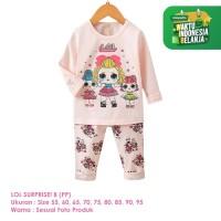 Setelan Baju Tidur Anak Perempuan Import Panjang LOL B Shirton