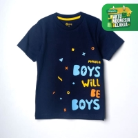 Moosca Kidswear Boys Will Be Boys T-shirt Kaos Anak