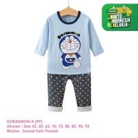 Baju Setelan Anak Laki-Laki Import Lengan Panjang Doraemon A Shirton