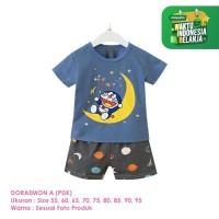 Setelan Baju Tidur Anak Laki-Laki Import Pendek Doraemon A Shirton