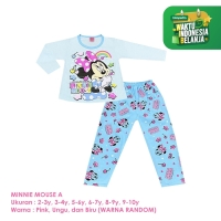 Baju Setelan Anak Perempuan Panjang 2-10 Tahun Minnie Mouse A Shirton