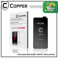Iphone Xs Max - COPPER Tempered Glass Full Glue ANTI GLARE / MATTE