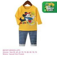 Baju Setelan Anak Laki-Laki Import Lengan Panjang Mickey A Shirton