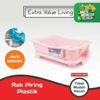 YOSHIKAWA Rak Piring Plastik EVL-RP-08-PINK