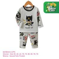 Setelan Baju Tidur Anak Laki-Laki Import Panjang Batman A Shirton