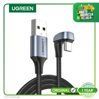 Ugreen Type C 3A Braided U-Shaped 2m Cable Black-70315
