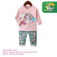 Setelan Baju Tidur Anak Perempuan Import Panjang Little Pony A Shirton