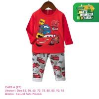 Baju Setelan Anak Laki-Laki Import Lengan Panjang Cars A Shirton