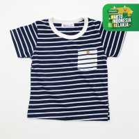 Moosca Kidswea Stripe Pocket Tee Kaos Anak