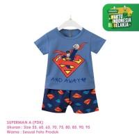 Setelan Baju Tidur Anak Laki-Laki Import Pendek Superman A Shirton