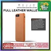 iPhone 8 Plus / 7 Plus Mujjo Full Leather Case Premium Genuine Leather - Tan Brown