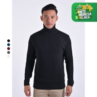 Sweater Rajut Pria Gomuda Cord TurtleNeck
