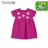 TORIO Dress Bayi Perempuan Flower Dress In Jasmine Fruschia - 9-12 bulan