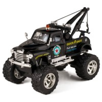 KiNSMART Black 1953 Chevy Off-Road Wrecker Die Cast Tow Truck Toy with