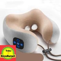 Alat Pijat Leher U-Shaped Portable Massage Pillow Neck - 200TC