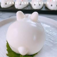 3D kelinci kue Diy silikon jala cetakan kue merah, Puding sabun