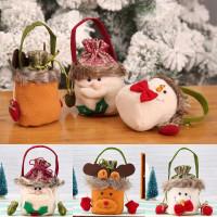 Tas Pou Serut Tempat Permen/Kus Model Santa Claus/Boneka Salju/Rusa