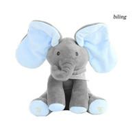 Zs Mainan Boneka Plush Gajah Cilukba Telinga Panjang 30cm Dapat