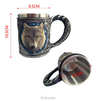 Animal Cartoon Vivid 3D Wolf 450ml Mug