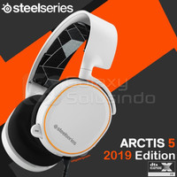 STEELSERIES ARCTIS 5 2019 7 1 SURROUND RGB GAMING HEADSET WHITE