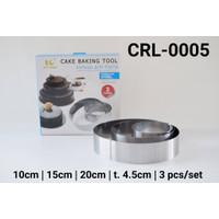 CRL-0005 Cake ring cetakan cake kue tiramisu stainless steel bulat