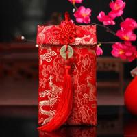 Amplop Angpao Merah Motif Naga Merah untuk Dekorasi Pernikahan /